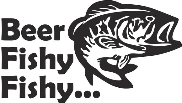 Beer Fishy Fishy Vinyl Decal