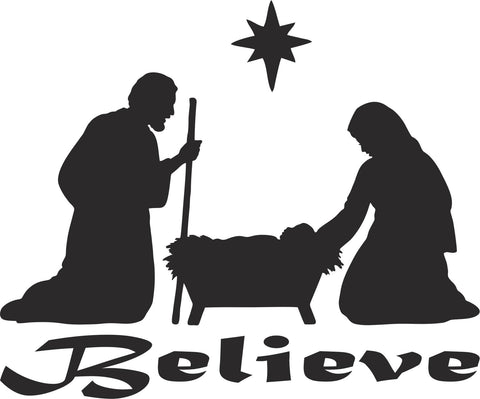 Believe Christian Vinyl Decal