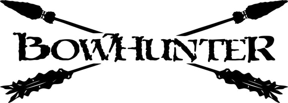 Bowhunter Crossed Arrows Vinyl Decal Sticker Label