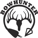 Bowhunter curved arrow vinyl decal sticker label