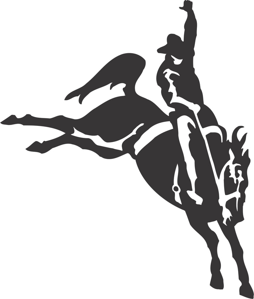 Bucking Bronco Vinyl Decal Label Sticker Cowboy