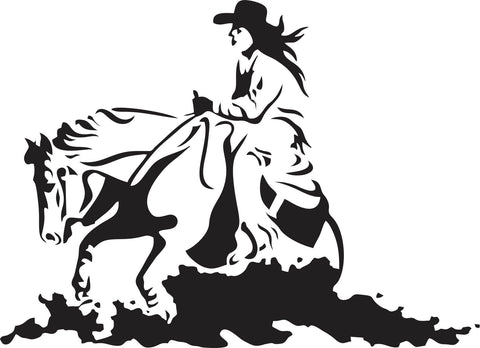 Cowgirl Ride Rodeo Vinyl Decal