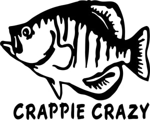 Crappie Crazy Vinyl Decal