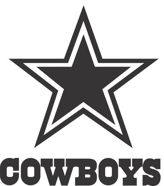 Dallas Cowboys Star Vinyl Decal Decals N More