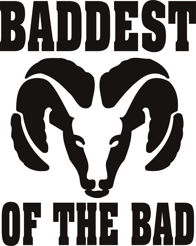Dodge Baddest of the Bad Vinyl Decal