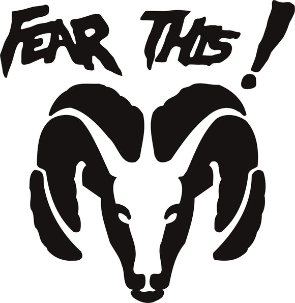 Dodge Fear This Vinyl Decal
