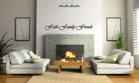Faith Family Fun Vinyl Wall Decal Sticker Label