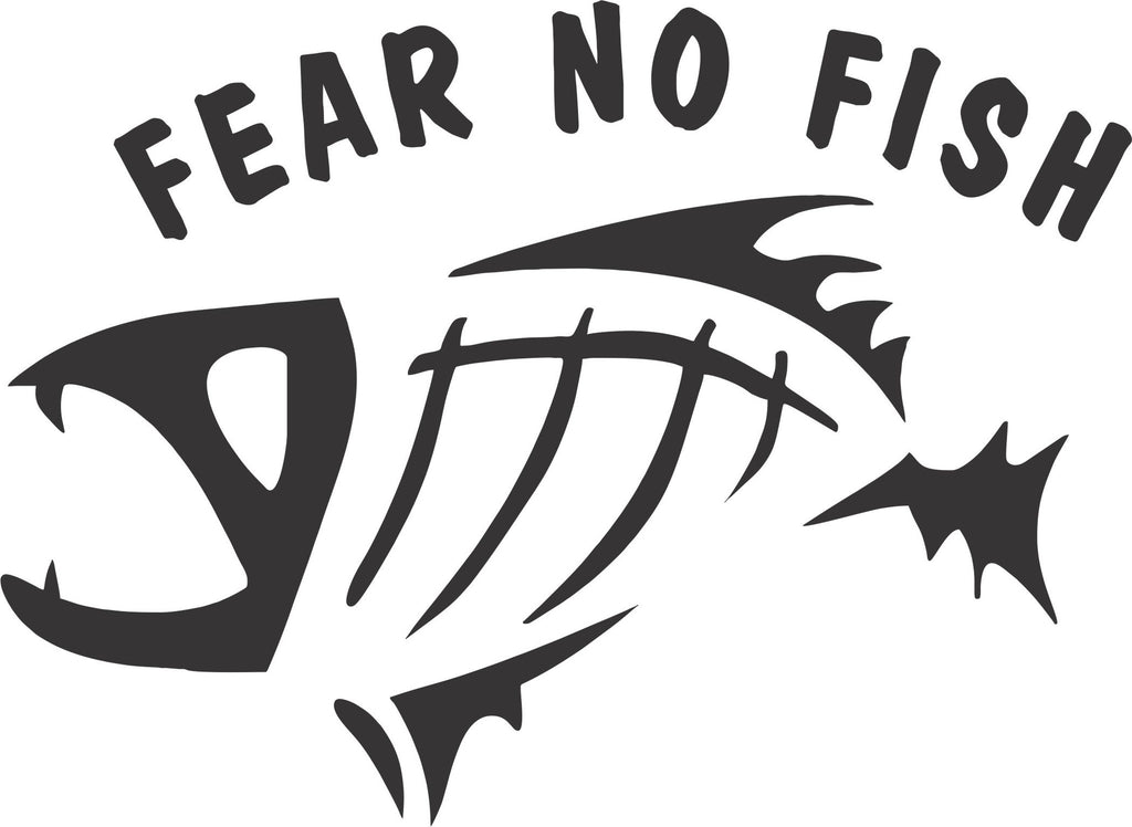 Fear no fish vinyl decal sticker label