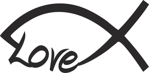 Christian Love Fish Vinyl Decal