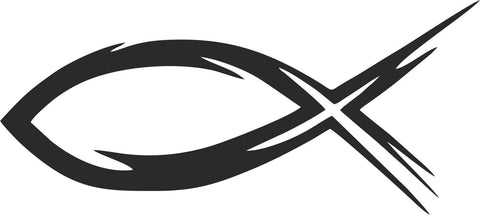 Christian Fish Symbol Vinyl Decal