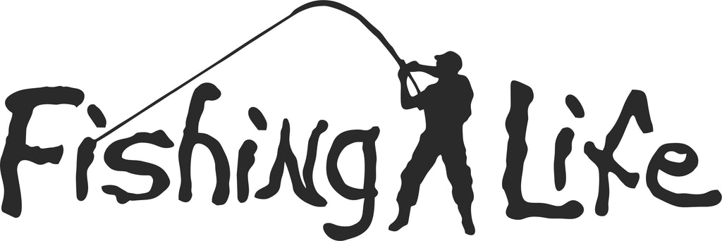 Fishing Life Vinyl Decal