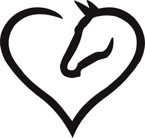 Heart & Horse Vinyl Decal