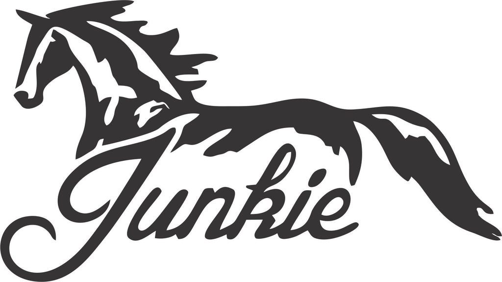Horse Junkie Vinyl Decal