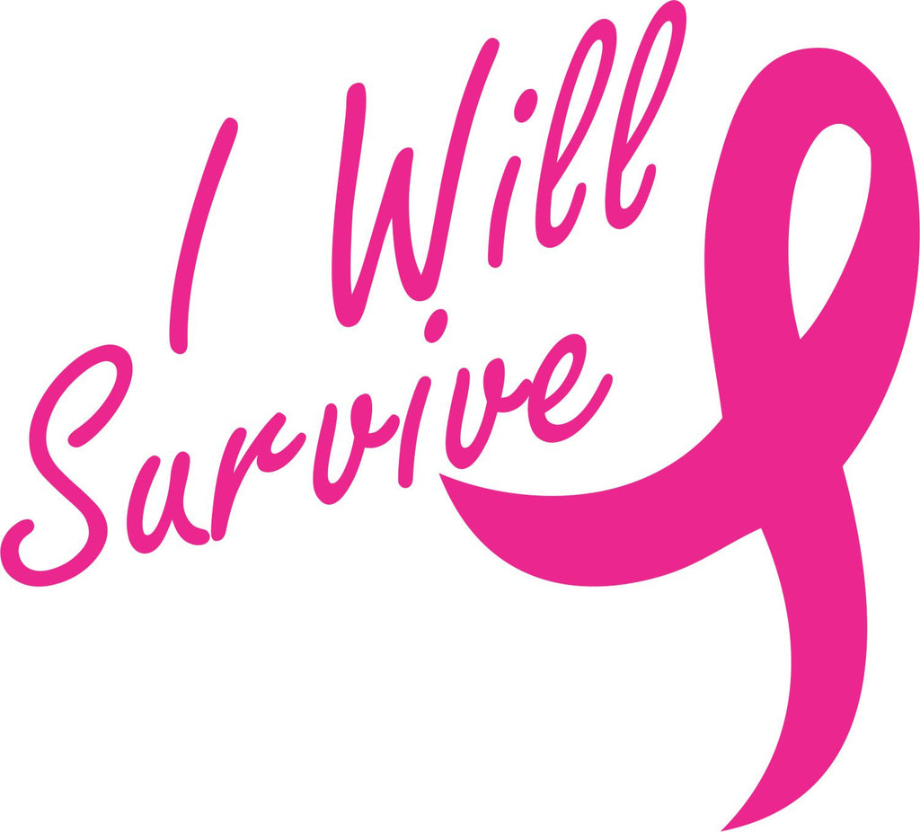 I Will Survive Ribbon Vinyl Decal