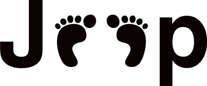 Jeep Feet Vinyl Decal