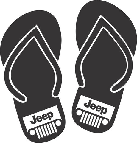 Jeep Flip Flops Vinyl Decal