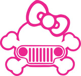 Pink Jeep Kitty Decal