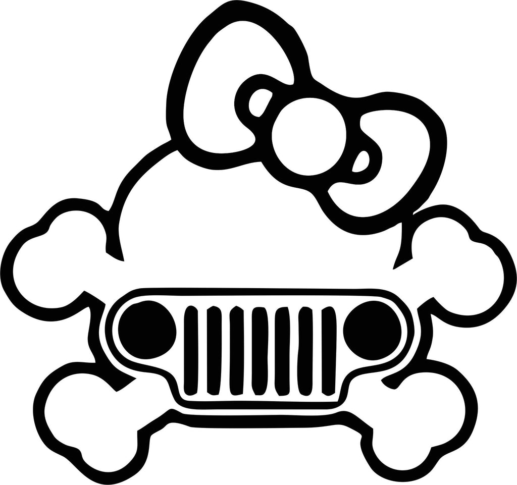 Jeep Kitty Vinyl Decal
