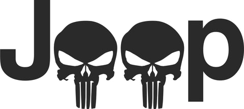 Jeep Punisher Vinyl Decal