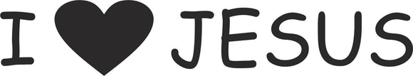 I Love Jesus Vinyl Decal Sticker Label