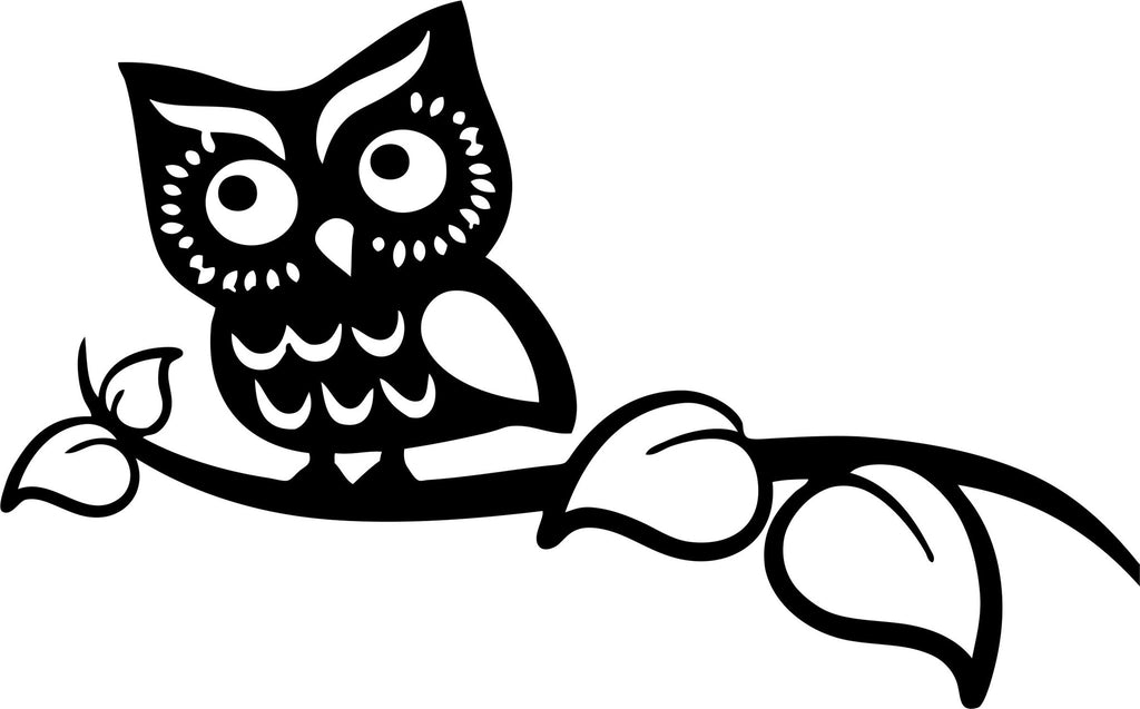 Owl Vinyl Decal Sticker Label