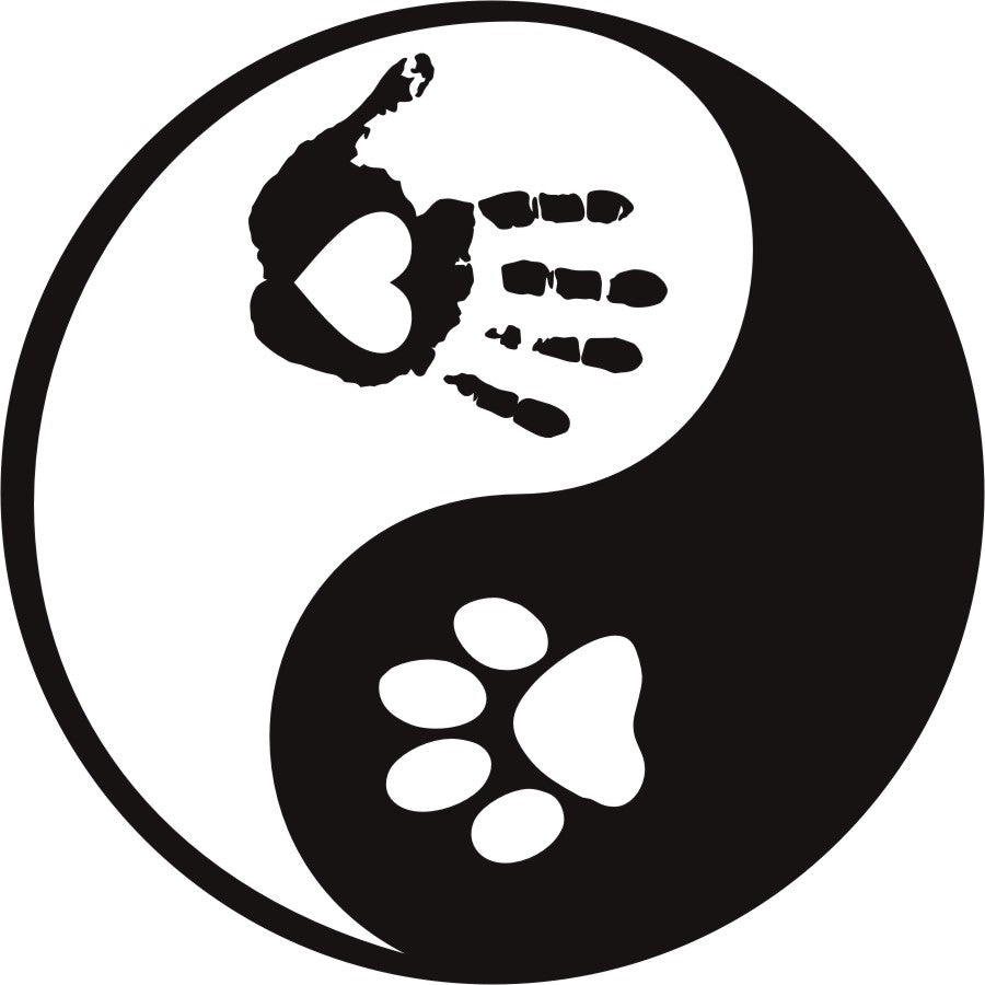 Yin & Yang Dog Lover Vinyl Decal