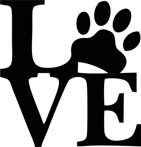 Pet Love Vinyl Decal