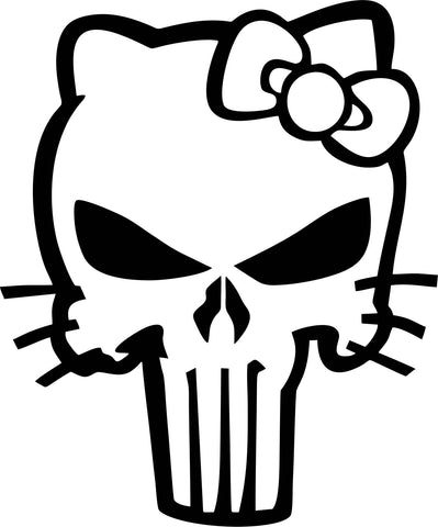 Punisher Kitty Vinyl Decal