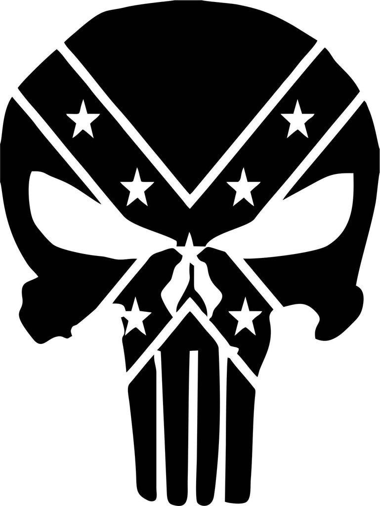 Punisher Rebel Vinyl Decal