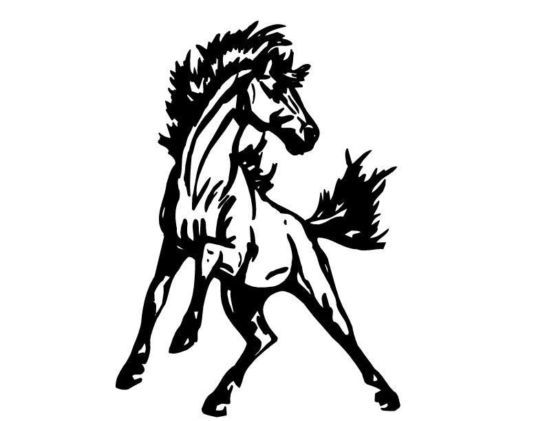 Rearing Mustang Vinyl Decal STicker Label