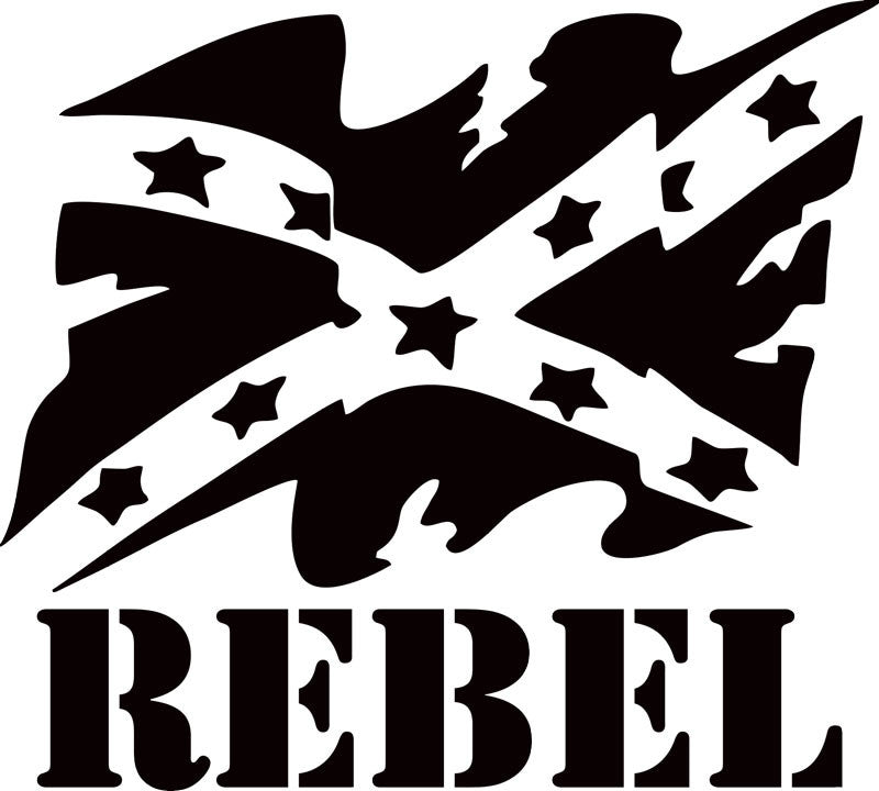 Confederate Battle Flag Rebel Vinyl Decal