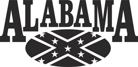 Alabama Rebel Vinyl Decal