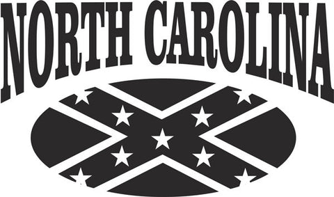 North Carolina Rebel Vinyl Decal