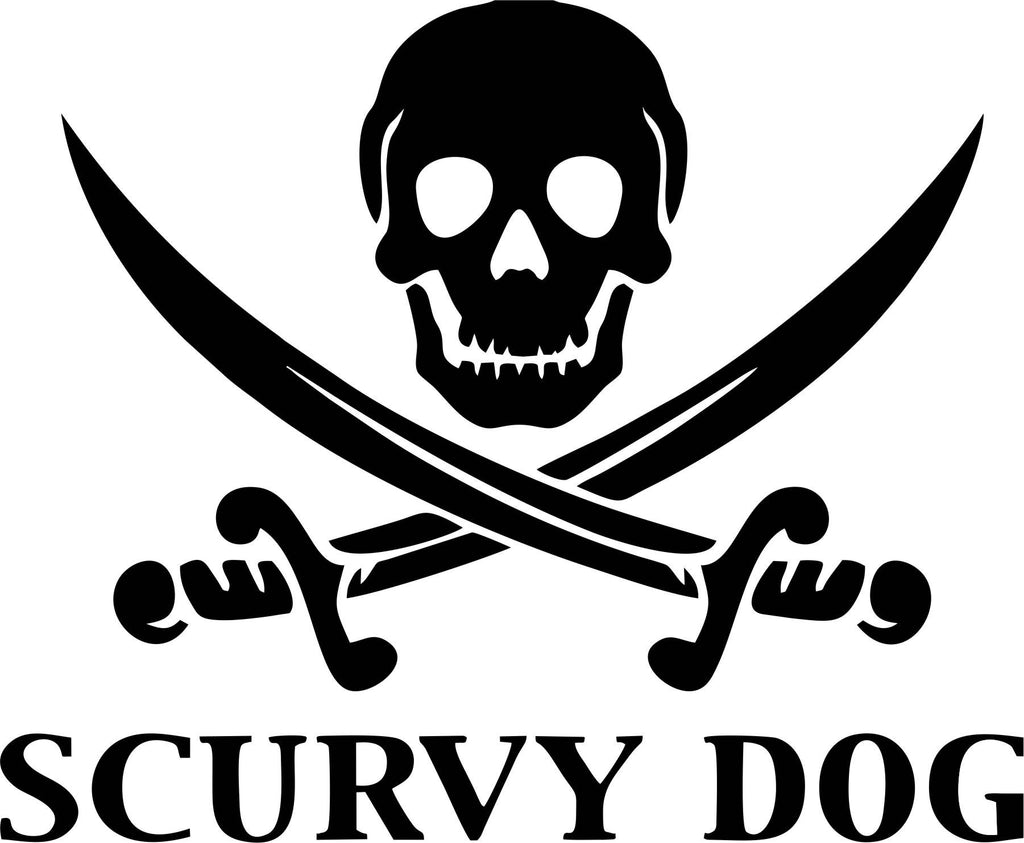 Scurvy Dog Pirate Vinyl Decal