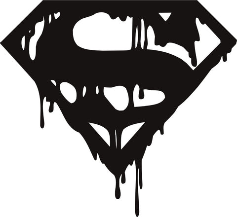 Death of Superman Logo Vinyl Decal