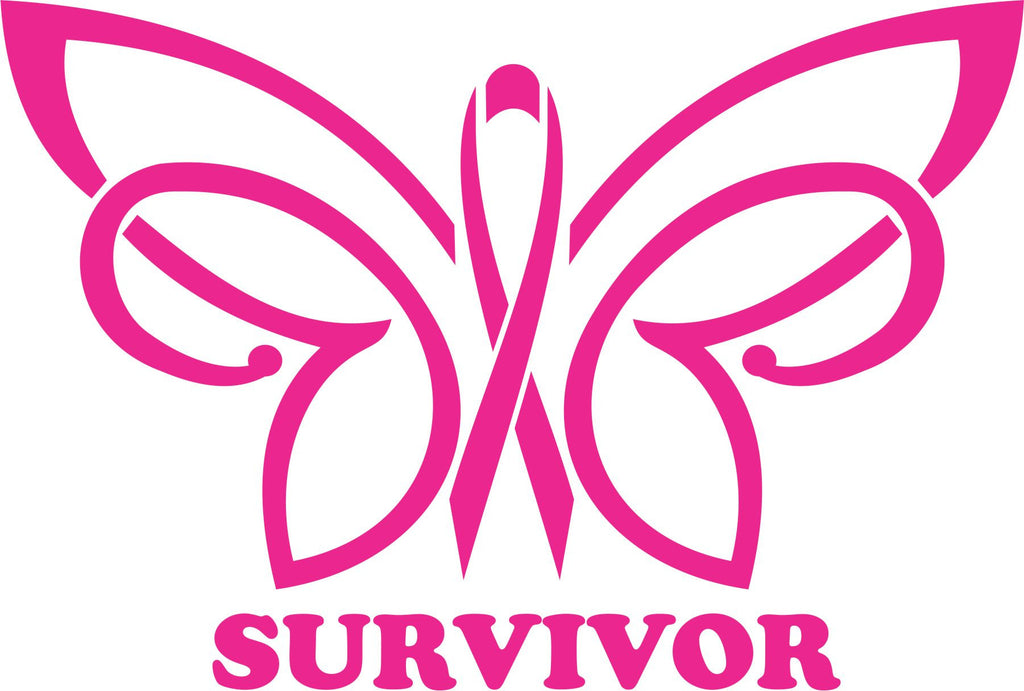 Survivor Butterfly Vinyl Decal