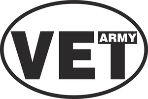 Army Veteran Vinyl Decal