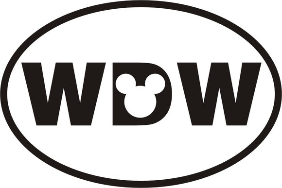 Walt Disney World Oval Vinyl Decal