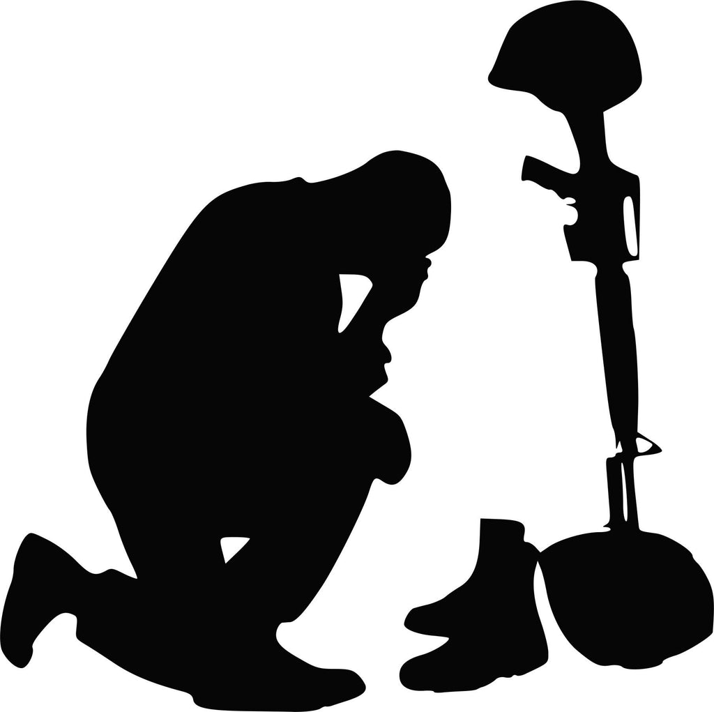 Praying Soldier Vinyl Decal
