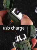 Waterproof USB Plasma Lighter Double Arc For Outdoor Camping Sports