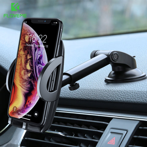 FLV Car Phone Holder 360 Rotation & Telescopic For Dashboard / Windshield