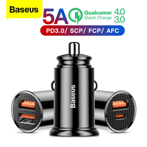 B-US 5A Car Charger, Quick Charge QC4.0 QC3.0 QC Auto