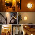 PIR Infrared Motion Sensor LED Night Light, Auto On/Off, Wireless, Warm White