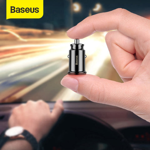 B-US Mini Dual USB Car Charger 3.1 A