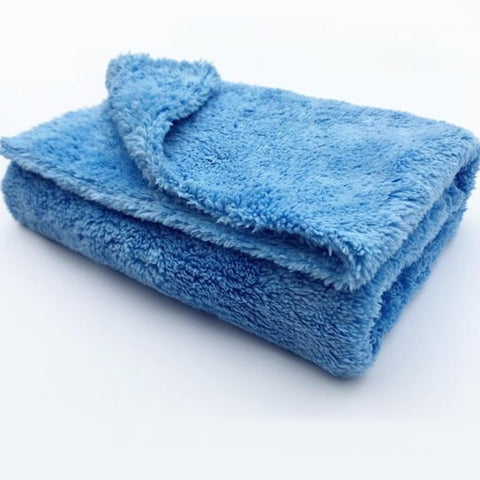 "Microfiber Edgeless, 16""X16"" 450GSM Blue Towel No Scratch Plush Cloth For Car Detailing and Dusting"