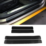 Car Stickers Universal Sill Scuff Anti Scratch Carbon Fiber 60 x 6.7cm, 4pcs