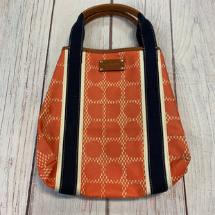 Primary Photo - BRAND: KATE SPADE STYLE: HANDBAG DESIGNER COLOR: SALMON SIZE: MEDIUM OTHER INFO: NAVY SKU: 217-217182-4372