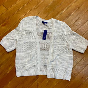 Primary Photo - BRAND: APT 9 STYLE: SWEATER CARDIGAN LIGHTWEIGHT COLOR: WHITE SIZE: 2X OTHER INFO: NEW! $36 SKU: 217-217182-3764