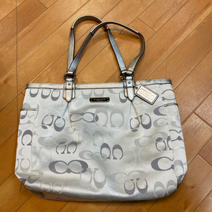 Primary Photo - BRAND: COACH STYLE: HANDBAG DESIGNER COLOR: SILVER SIZE: MEDIUM OTHER INFO: AS IS SKU: 217-217182-2574