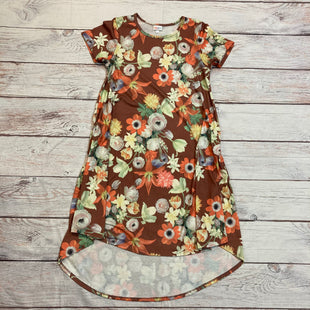 Primary Photo - BRAND: LULAROE STYLE: DRESS SHORT SHORT SLEEVE COLOR: FLORAL SIZE: S OTHER INFO: BROWN/GREEN/ORANGE SKU: 257-257181-92